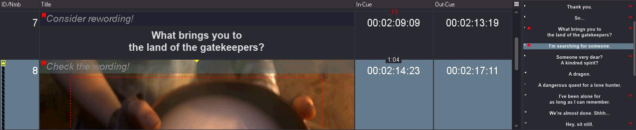 Main Subtitle Area